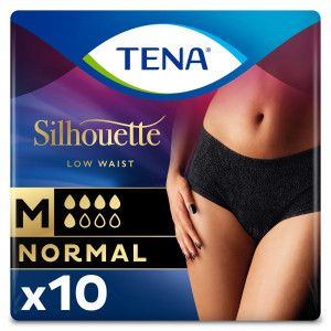 TENA Silhouette Normal - Low Waist - Noir - Medium