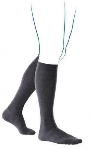 Venoflex Fast Coton 2 Sokken Heren Lang Zwart