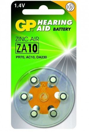 GP Zinc Air Hoorapparaat Batterijen ZA10