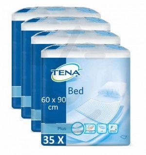 TENA Bed Plus Onderlegger 60 x 90 cm | 4 pakken van 35 stuks