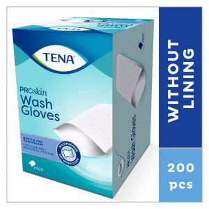 TENA wash gloves 200 stuks