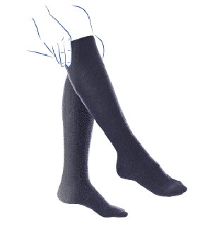 Venoflex Fast Coton 2 Sokken Dames Lang Zwart