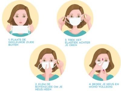 Hoe mondkapje opzetten