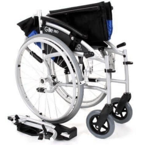 Plooibare rolstoel ingeklapt